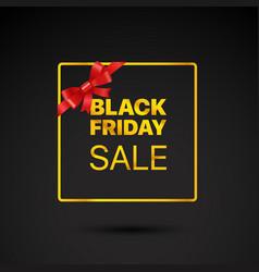 black friday golden frame black friday sale tag vector image vector image