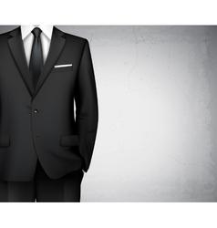 Businessman suit background vector