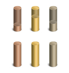 cylindrical bars vector image vector image