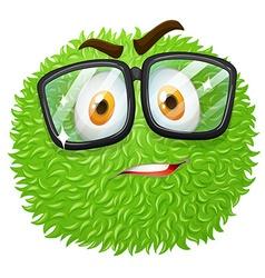 Facial expression on fluffy ball vector image vector image
