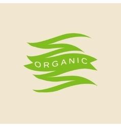 Green Zigzag Organic Product Logo vector image vector image