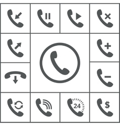 Handset icons vector image vector image