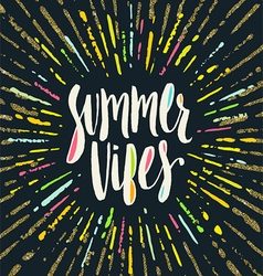 Summer holidays greeting vector image