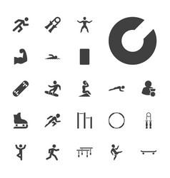 22 athlete icons vector
