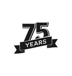 75 years anniversary logotype isolated vector