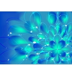 Abstract fractal resembling a flower with vector