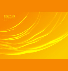 abstract lighting curved lines on yellow vector image