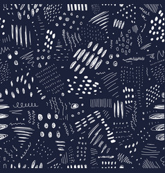 abstract monochrome seamless pattern with lines vector image