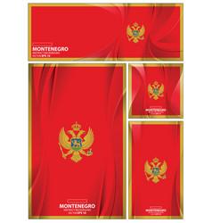 abstract montenegro flag background vector image