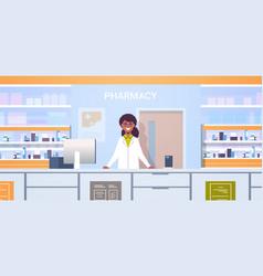African american female doctor pharmacist standing vector