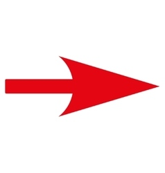 Arrow Axis X flat red color icon vector