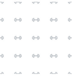 Barbell icon pattern seamless white background vector