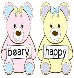 Beary Happy vector