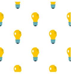 Broken yellow lightbulb pattern flat vector