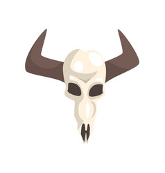 buffalo skull symbol of the wild west vector image
