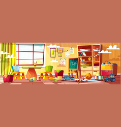 Cartoon kindergarten for children vector