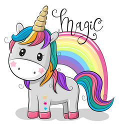 Cartoon unicorn isolated on a white background vector