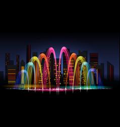 City water lighting show vector