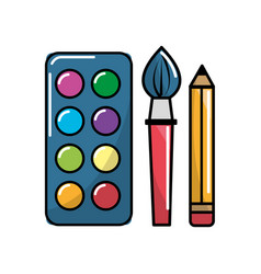 color school tools icon vector image