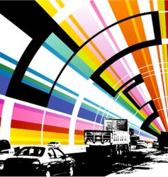 colorful road vector image