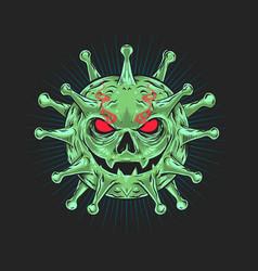 coronavirus character pandemic plague 2 vector image