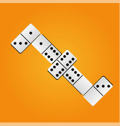 creative realistic dominoes vector image