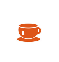 creative tea cup logo design symbol vector image