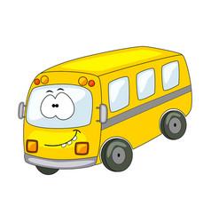 cute cartoon bus isolated on vector image