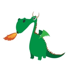 Cute dragon cartoon character vector image