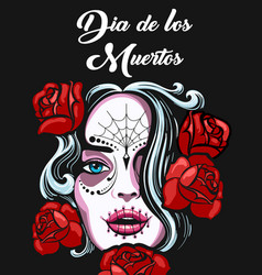 day of the dead poster design vector image