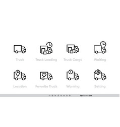 delivery track icons set track loading for vector image