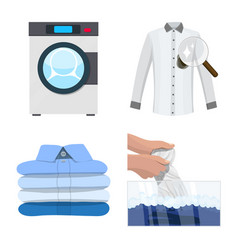 Design of laundry and clean logo vector
