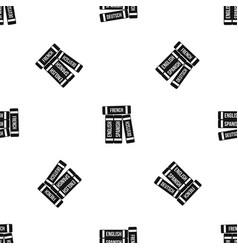 dictionaries pattern seamless black vector image