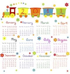 doodle calendar 2013 vector image