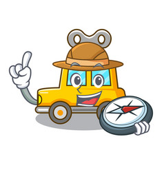 Explorer cartoon clockwork toy car for gift vector
