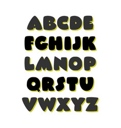 extra bold comic style font alphabet vector image