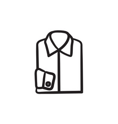 Folded male shirt sketch icon vector