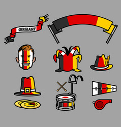 germany soccer supporter gear set vector image