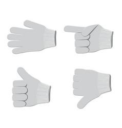 Gloves set2 vector