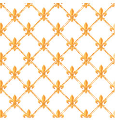 golden baroque rich luxury pattern vector image