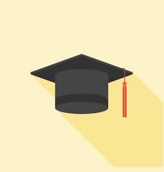 graduation cap icon flat design vector image