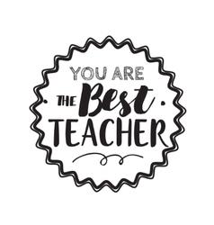 Happy teachers day typography vector