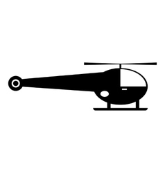 Helicopter icon simple style vector image