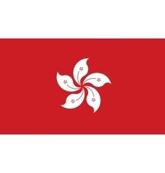 Hong Kong flag image vector image
