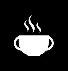 hot coffee icon design vector image