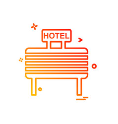 hotel icon design vector image