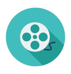 Icon reel of film vector image