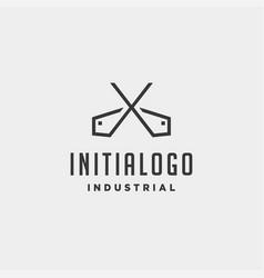 Initial letter x real estate logo design vector