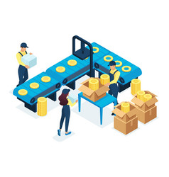 Isometric concept for production vector