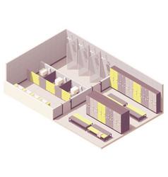Isometric locker room vector